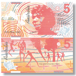 Territory theme bank notes