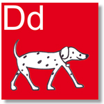 d for dog - ABC freize