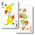 King of Clubs and Queen of Hearts cards